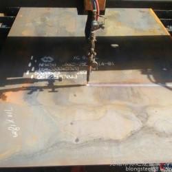白山高锰钢65Mn按图纸下料切割图片