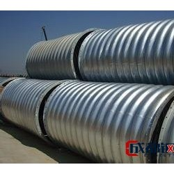 鋼波紋管廠家  熱鍍鋅金屬波紋涵管 鋼結構管廊施工圖片