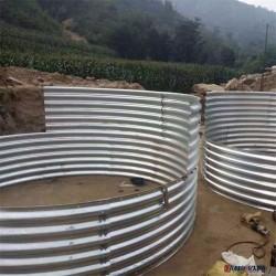 保定鋼波紋管涵價格 金屬波紋涵管施工  管廊結構管涵圖片