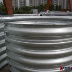 钢波纹管厂家 钢结构管廊施工 热镀锌金属波纹涵管图片