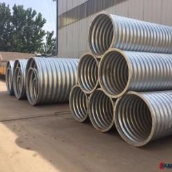 直供钢波纹管 热镀锌金属波纹涵管 钢结构管廊施工图片