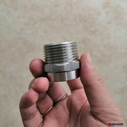 不锈钢焊丝接头/一寸/焊接式接头/波纹管焊芯接头一可供冷镦毛坯图片