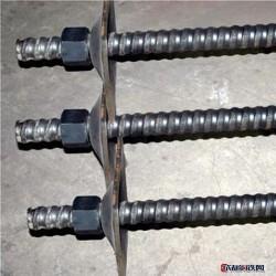 鼎煤螺纹钢锚杆 矿用支护锚杆 左旋螺纹钢锚杆 右旋螺纹钢锚杆 厂家直销螺纹钢锚杆图片