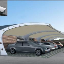 新品車棚景觀棚膜結構棚 展覽中心鋼及合金結構鋼Q195圖片