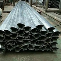 成都現貨304不銹鋼異型管316L異型管 可來圖加工 凹槽管 扇形管 橢圓管三角管等圖片